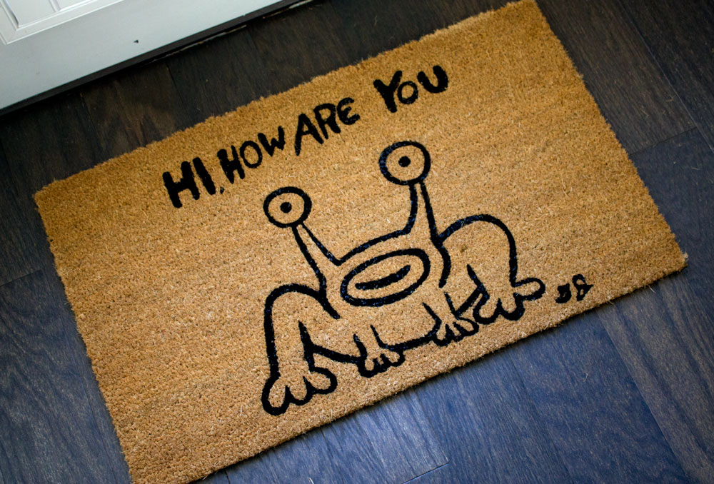 """""""Hi How Are You"""" Frog by Daniel Johnston"""